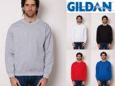 36 Units of Gildan Mens Assorted Colors Irregular Fleece Sweat Shirts Size Large - Mens Sweat Shirt