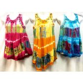 12 Units of Girls Rayon Tie Dye Dress with Sequins Size Small - Girls Dresses and Romper Sets
