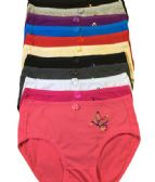 36 Units of Grace Ladys Cotton Brief Assorted Color Size Medium