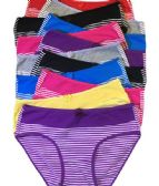 36 Units of Grace Ladys Striped Bikini Assorted Color Size Large