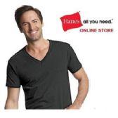 24 Units of HANES 3 PACK MEN'S COLOR V-NECK T-SHIRTS SIZE LARGE - Mens T-Shirts