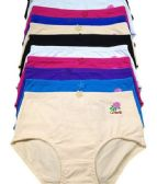 216 Units of Kristie Full Cotton Brief Assorted Colors Size Medium - Womens Panties & Underwear