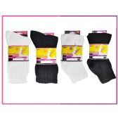 60 Units of Ladies Sport Crew 3 Piece Pack-Black Size 9-11