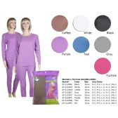 72 Units of LADIES THERMAL SET IN MIX COLOR - Womens Thermals