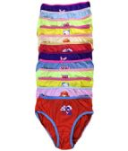 36 Units of Little Angels Girls Cotton Panty Assorted Colors Size Medium - Girls Underwear and Pajamas