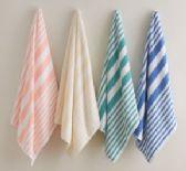 24 Units of Martex Cabana Stripe Beach Towel Size 35x70 100% Cotton In Peach - Beach Towels
