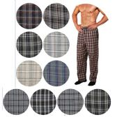 36 Units of Men's Cotton Pajama Bottoms In Assorted Plaid Patterns And Assorted Plus Sizes 1XL - 4XL - Mens Pajamas