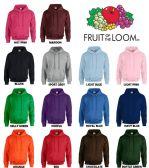 24 Units of Men's Fruit Of The Loom Irregular Hoodies ,Size XL - Mens Sweat Shirt