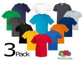 72 Units of Men's Fruit Of the Loom V Neck Shirt, Size 3XLarge - Mens T-Shirts