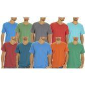 144 Units of Men's Fruit Of The Loom V Neck T Shirts, Size 2XLarge - Mens T-Shirts