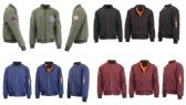 192 Units of Men's Heavyweight MA-1 Flight Bomber Jackets Pallet Deal Mix Sizes Colors - Winter Care Sets