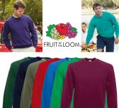 36 Units of Mens Fruit Of The Loom Sweat Shirt Assorted Colors Size Large - Mens Sweat Shirt