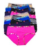 36 Units of Milan Ladys Laser Cut Hipster Assorted Color Size XLarge