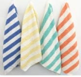 36 Units of Plunge Cabana Stripes Beach Towel In 100% Cotton Size 27x56 In Mango - Beach Towels
