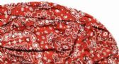 48 Units of Red Paisley - Red Bandana Caps - Bandanas