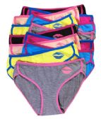 36 Units of Sheila Ladys Cotton Bikini Assorted Colors In Size Large