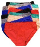 36 Units of Sheila Ladys Cotton Bikini Assorted Colors In Size Medium