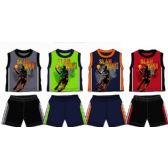 48 Units of SPRING BOYS CLOSE MESH SHORT SETS 4-7 - Boys Shorts