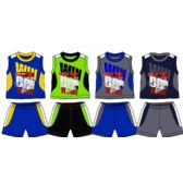 48 Units of SPRING BOYS CLOSE MESH SHORT SETS Size 8-16 - Boys Shorts
