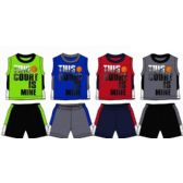 48 Units of SPRING BOYS CLOSE MESH SHORT SETS Size TODDLER - Toddler Boys Sets