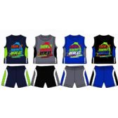 48 Units of SPRING BOYS JERSEY TOP WITH CLOSE MESH SHORT SETS SIZE 8-16 - Boys Shorts