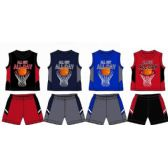 48 Units of SPRING BOYS JERSEY TOP WITH CLOSE MESH SHORT SETS SIZE INFANT
