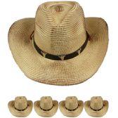 96 Units of STRAW COWBOY HAT - Cowboy & Boonie Hat