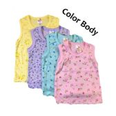 36 Units of Strawberry Girl Singlet 0-9 Months In Body Color