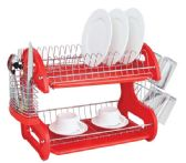 6 Units of Home Basics 2-Tier Plastic Dish Drainer - Dish Drying Racks