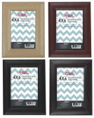 """Home Basics 4"""" x 6"""" Deluxe Solid Wood Picture Frame, Black - Picture Frames"""