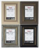 """Home Basics  4"""" x 6"""" Deluxe Solid Wood Rustic Picture Frame, Black - Picture Frames"""