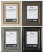 """Home Basics 5"""" x 7"""" Deluxe Solid Wood Rustic Picture Frame, Black - Picture Frames"""
