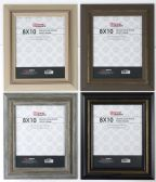 """Home Basics 8"""" x 10"""" Deluxe Solid Wood Rustic Picture Frame, Black - Picture Frames"""