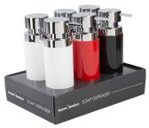 24 Units of Home Basics 12 oz. Stainless Steel Round Soap Dispenser, White - Soap Dishes & Soap Dispensers
