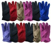 144 Units of Yacht & Smith Kids Warm Winter Colorful Fleece Gloves Assorted Colors - Kids Winter Gloves