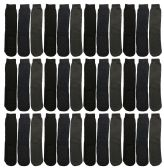24 Units of Yacht & Smith Mens Thermal Tube Slipper Sock Size 10-13 With Gripper Bottom - Mens Thermal Sock