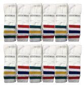 24 Units of Yacht & Smith Mens & Womens Wholesale Bulk Cotton Tube Socks, Referee Style - Mens Tube Sock