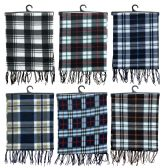 72 Units of Yacht & Smith Plaid Color Warm Winter Fleece Scarves - Winter Scarves