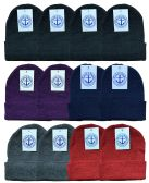 144 Units of Yacht & Smith Unisex Winter Knit Hat Assorted Colors 144 Pack - Winter Beanie Hats
