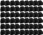 180 Units of Yacht & Smith Unisex Winter Warm Beanie Hats In Solid Black - Winter Beanie Hats