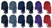 144 Units of Yacht & Smith Womens Warm Winter Sets 72 Pairs Of Gloves And 72 Hats - Winter Care Sets
